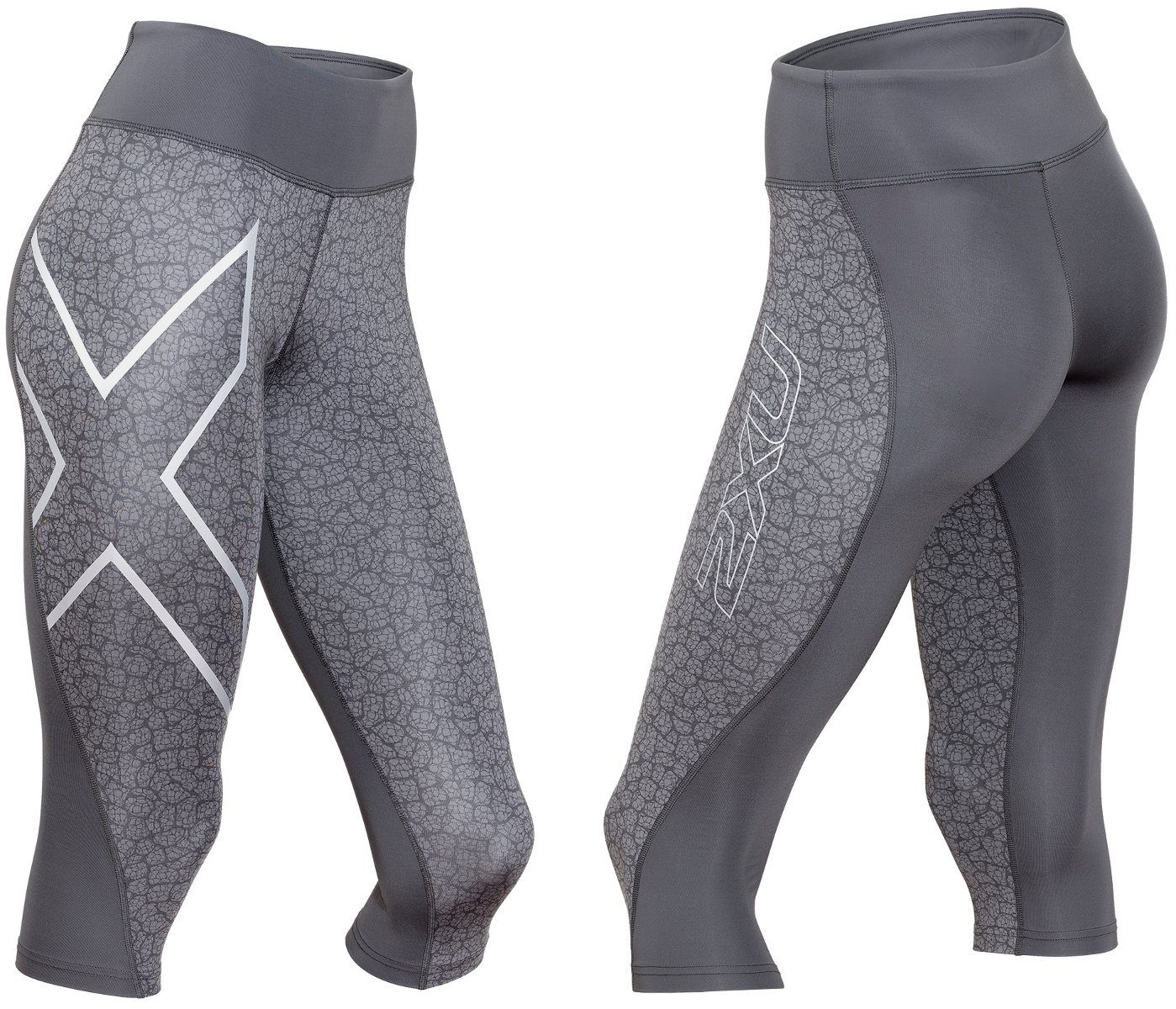 2xU Jogginghose »Mid-Rise 3/4 Compression Tights Women«