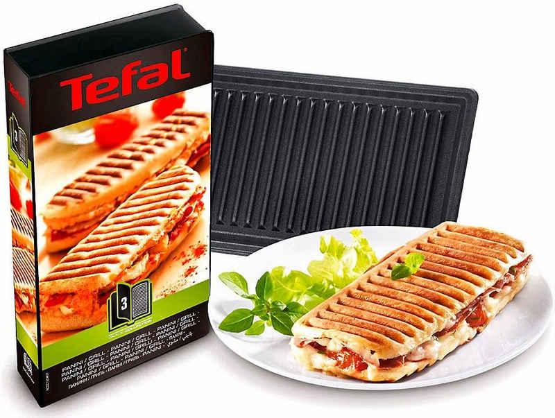 Tefal Paniniplatten »XA8003«, Metall, passend für Tefal SW852D Snack Collection