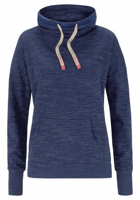 Damen Bench. Sweatshirt mit Schalkragen blau | 08964000514016