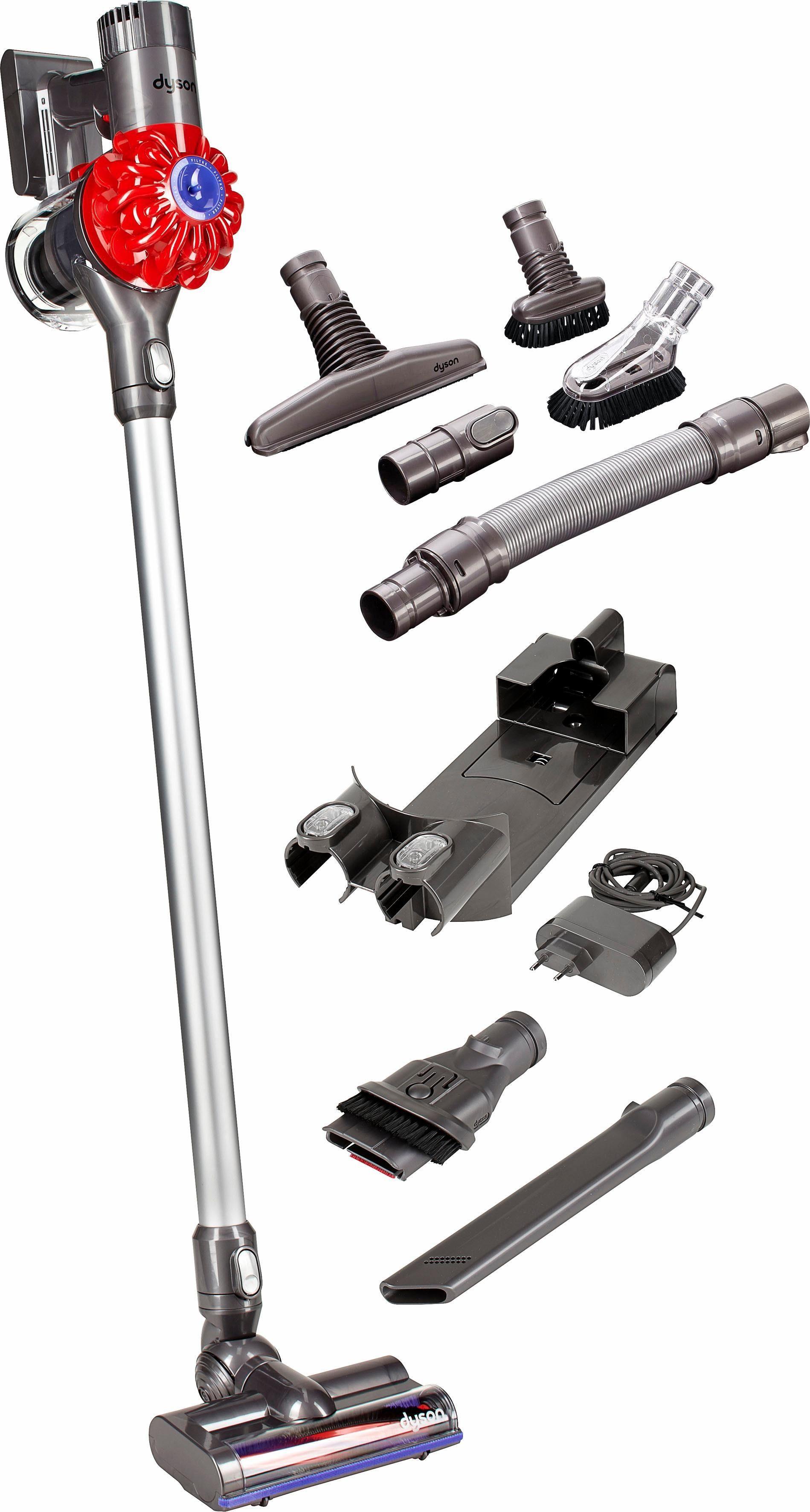 Dyson Akkusauger DC62 Full Kit (DC62 + Akkusauger-Set), beutellos, iron-rot