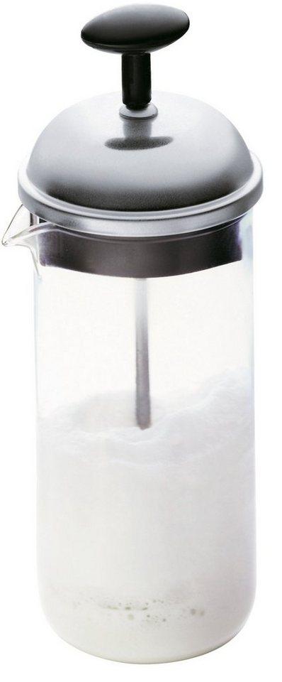 bodum® Milchschäumer klein, 0,8 l, »CHAMBORD« in transparent/silberfarben/schwarz