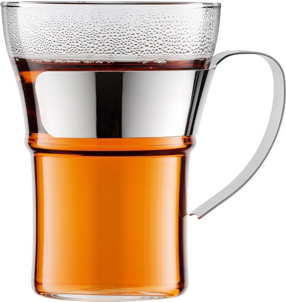 bodum® Kaffeeglas, 2er Set, »ASSAM« in transparent/silberfarben