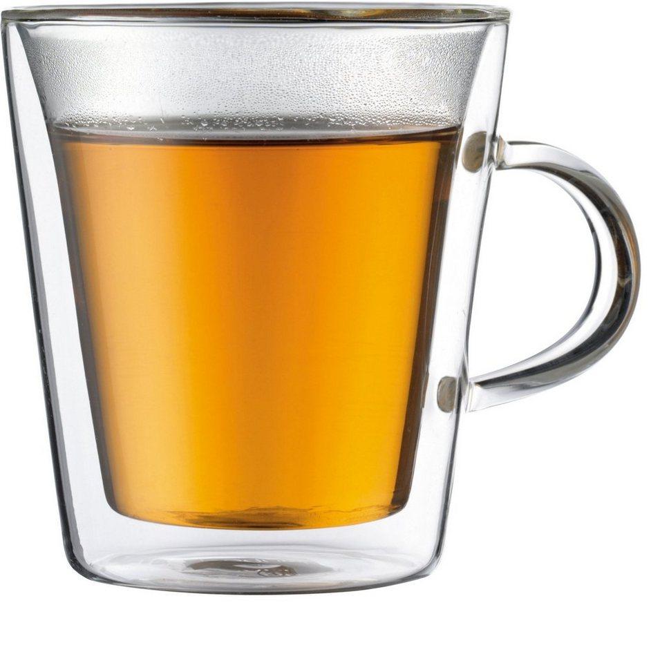 bodum® Tasse, doppelwandig, 2 Stück, 0,2 l in transparent