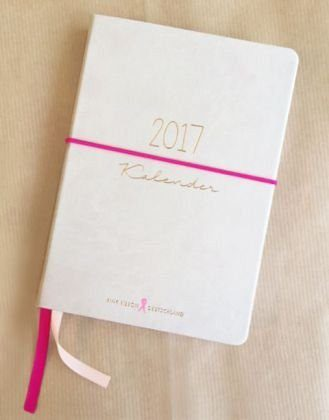 Gebundenes Buch »Pink Ribbon Termin Kalender 2017«