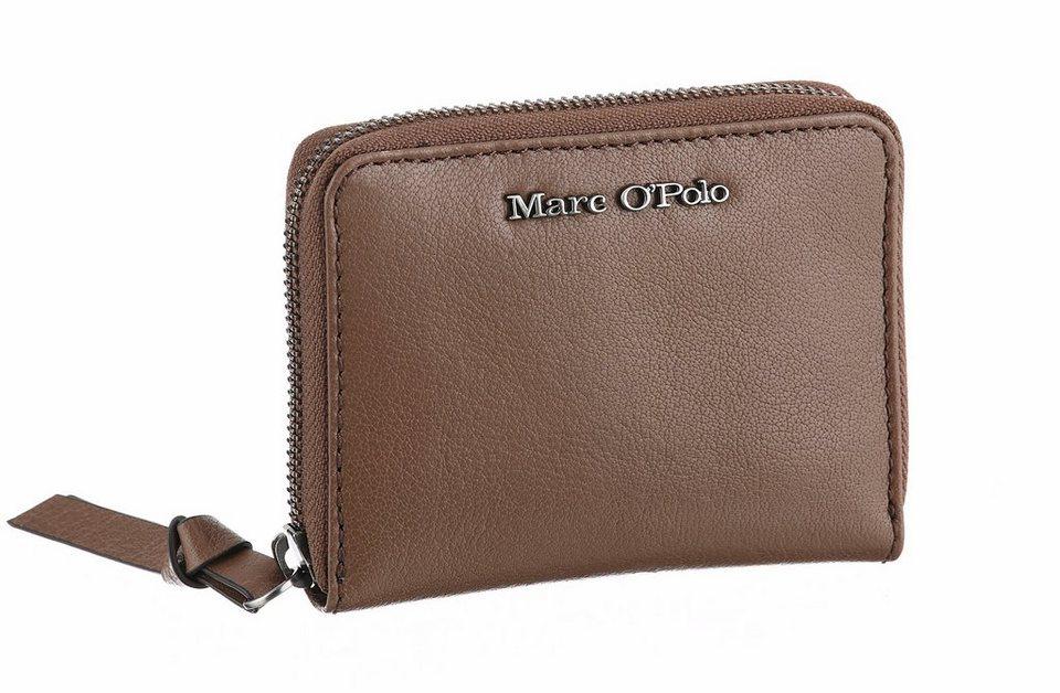 Marc O'Polo Geldbörse aus Leder in taupe