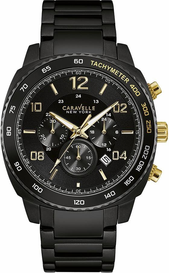 Caravelle New York Chronograph »Gold&Black, 45B146«