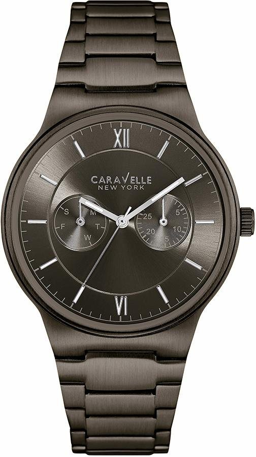 Caravelle New York Multifunktionsuhr »Dress, 45A136« in schwarz