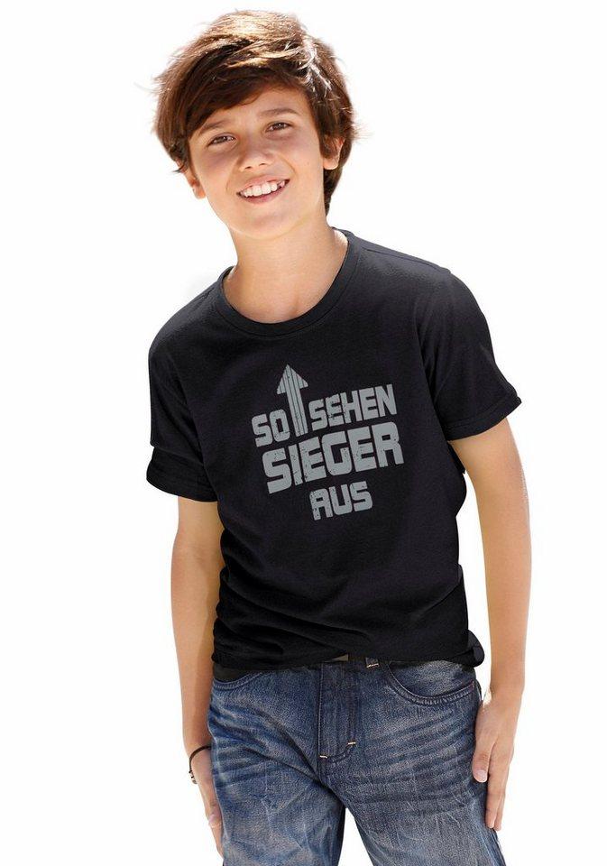 """CFL T-Shirt """"So sehen Sieger aus"""" in schwarz"""