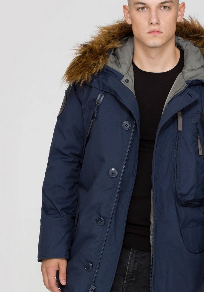 ALPHA INDUSTRIES Jacke »Polar Jacket Down « in rep.blue