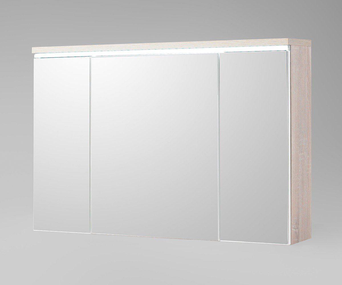 DELIFE Badspiegel Mendoza Eiche Dekor 100 cm