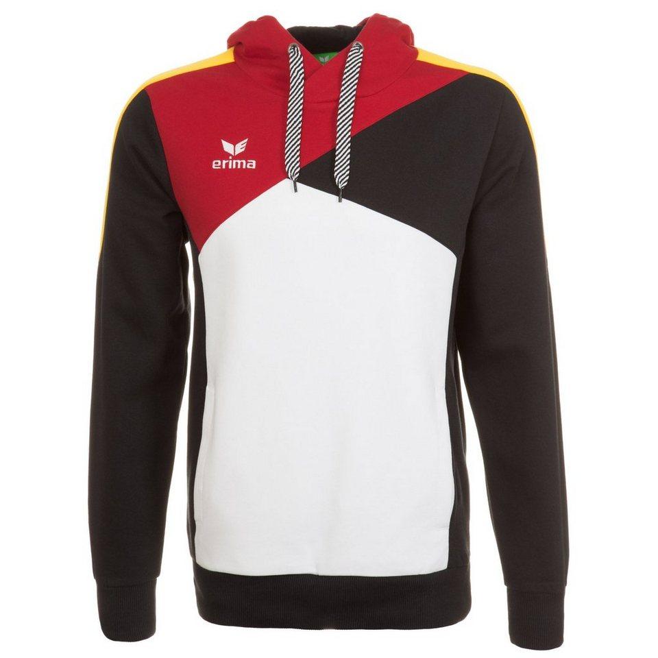 ERIMA Premium One Hoodie Herren in weiß/schwarz/rot