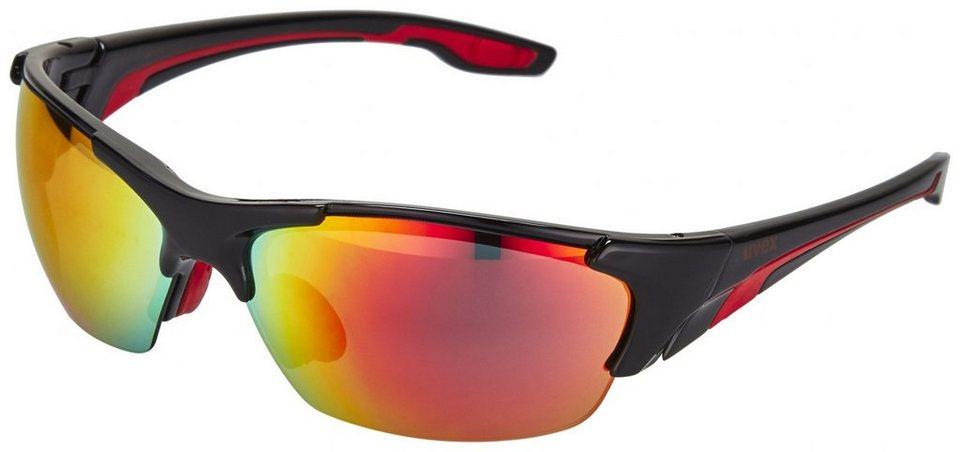 UVEX Radsportbrille »Blaze lll Brille« in rot