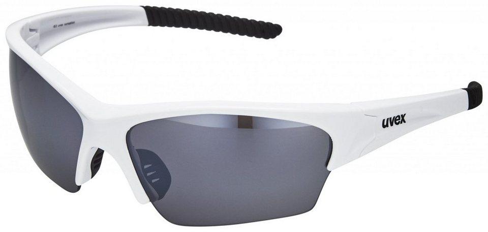 UVEX Radsportbrille »sunsation Brille« in weiß