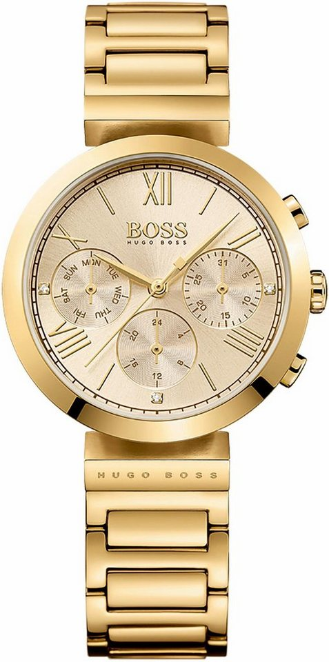 Boss Multifunktionsuhr »Classic Women Sport, 1502403« in goldfarben