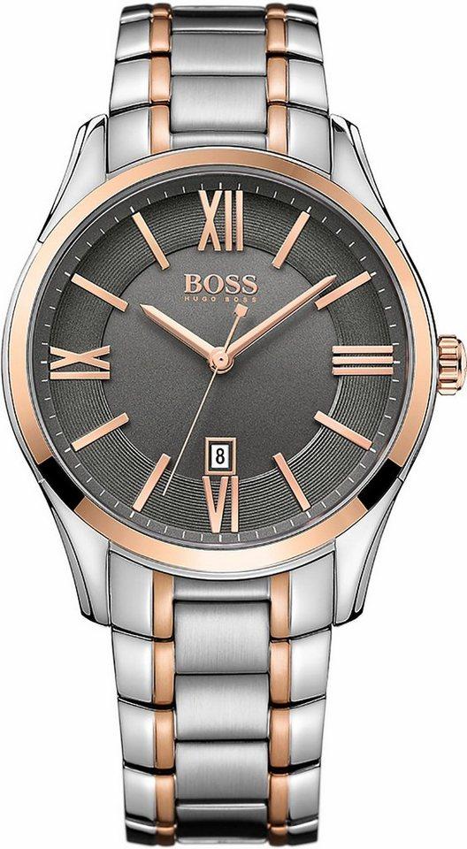 Boss Quarzuhr »Ambassador, 1513388« in silberfarben-roségoldfarben