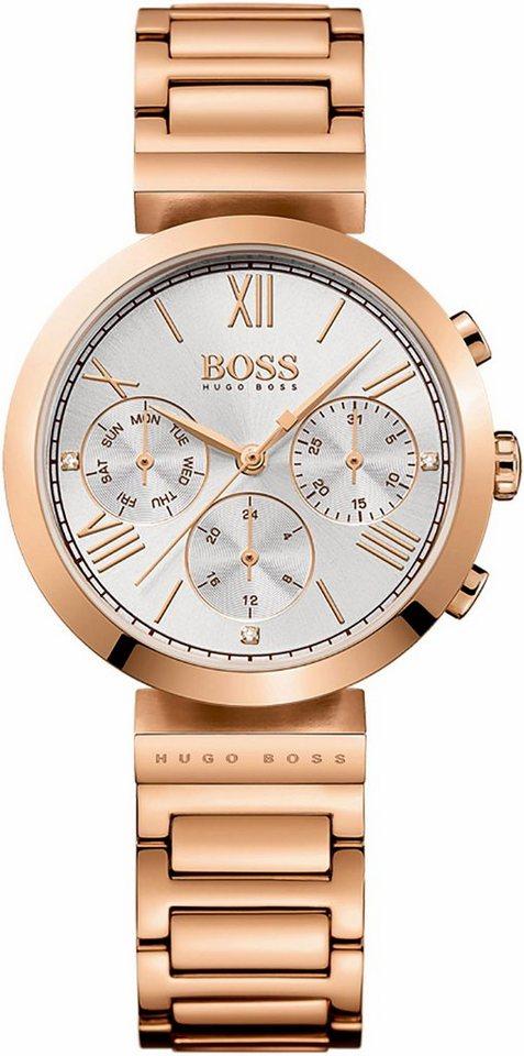 Boss Multifunktionsuhr »Classic Women Sport, 1502399« in roségoldfarben