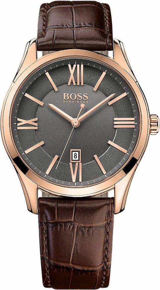 Boss Quarzuhr »Ambassador, 1513387« in braun