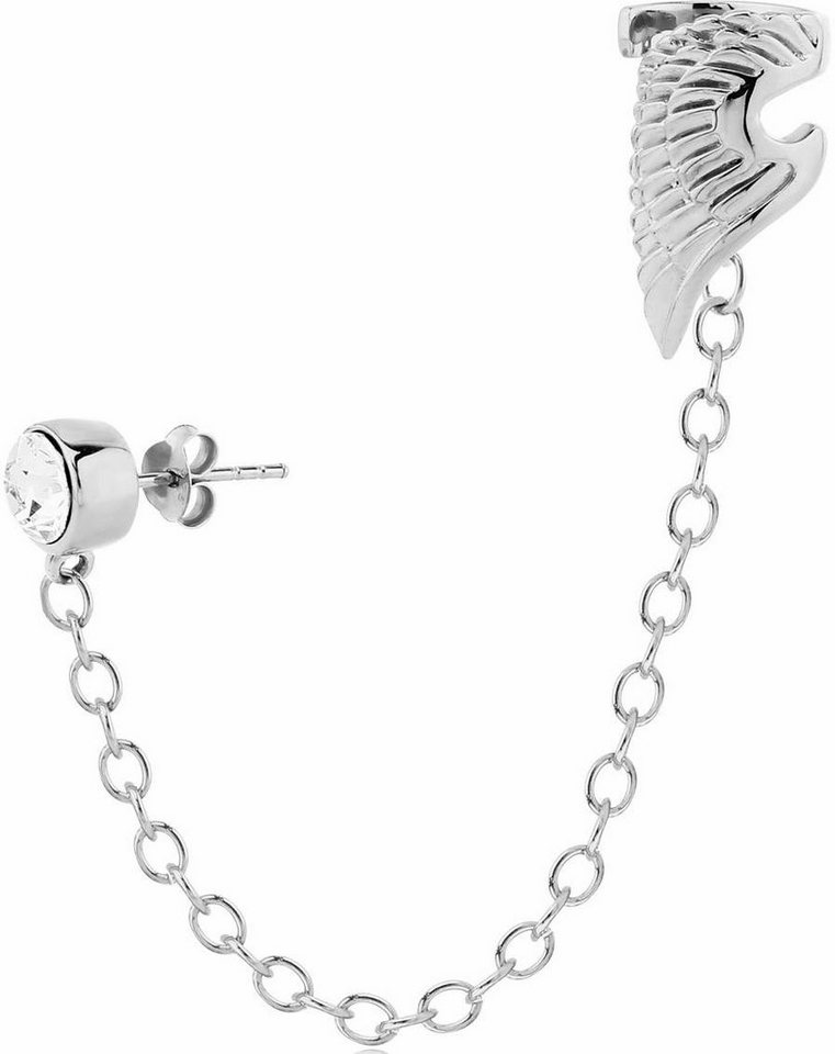 Firetti Single-Ohrstecker mit Ohrklemme »Clip« mit Swarovski-Kristall in Silber 925