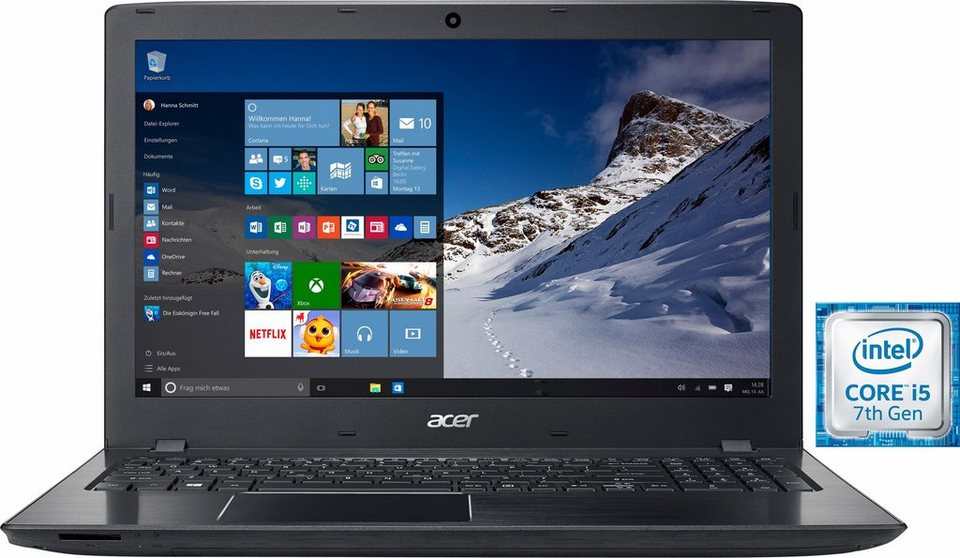 Acer Aspire E 15 (E5-575G-54G7) Notebook, Intel® Core™ i5, 39,6 cm (15,6 Zoll), 1128 GB Speicher in schwarz