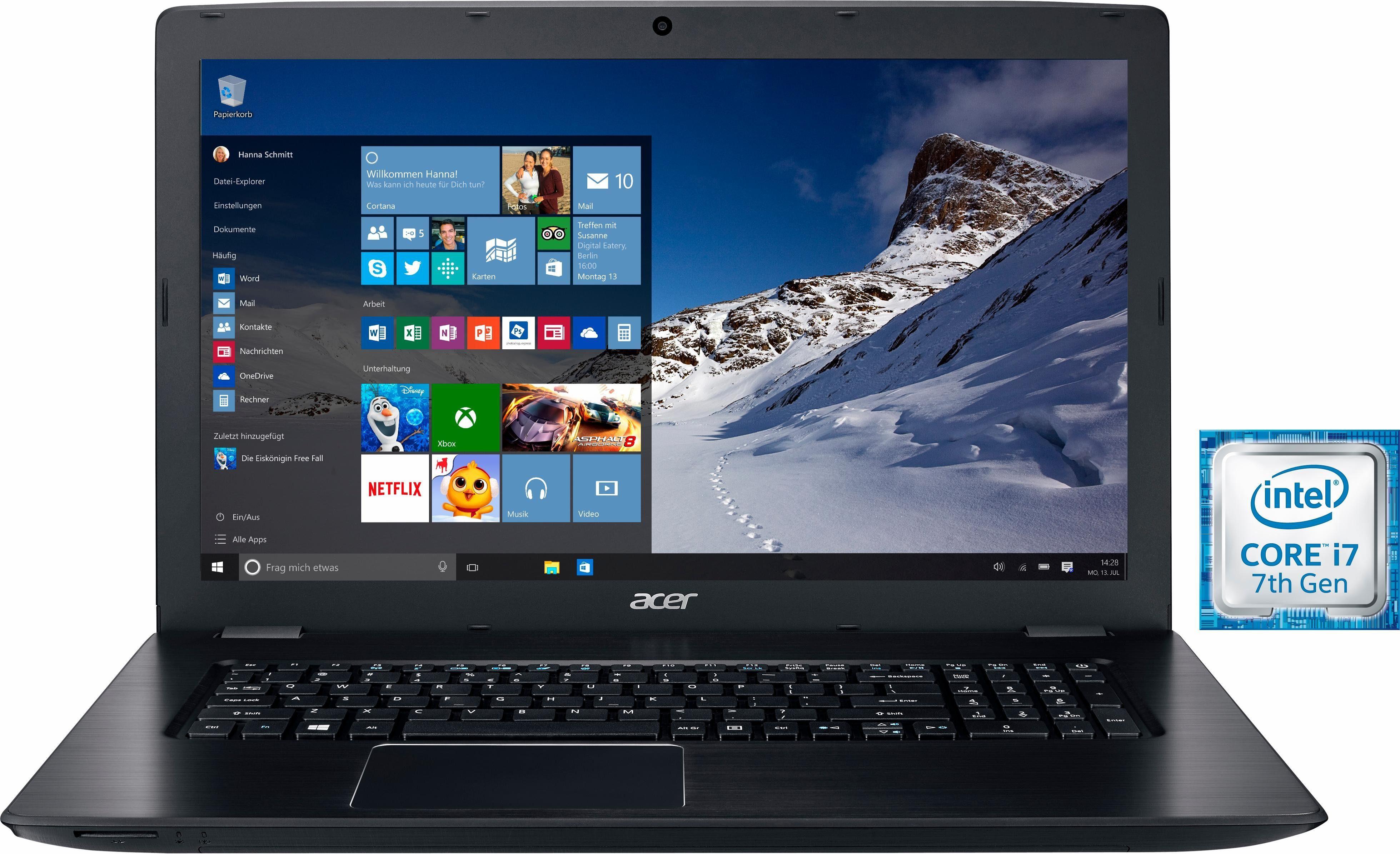 Acer Aspire E 17 (E5-774G-70J7) Notebook, Intel® Core™ i7, 43,9 cm (17,3 Zoll), 1256 GB Speicher