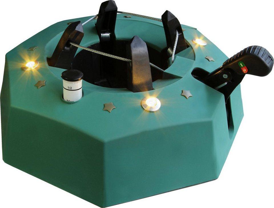 Star-Max LED - Christbaumständer in grün