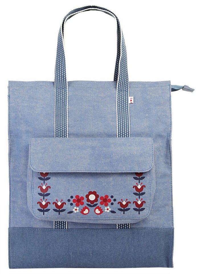 blutsgeschwister Damen Rucksack-Shopper »lucias lovely carryall« in blau