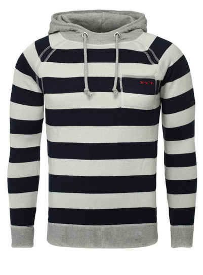 Key Largo Kapuzensweatshirt »POWER« in tollem Streifen-Design