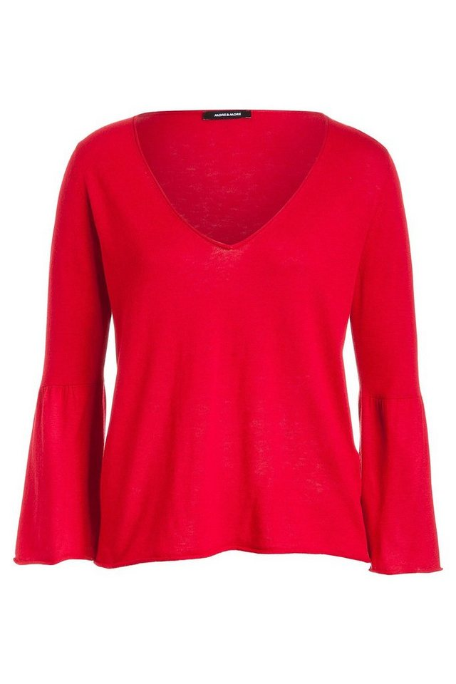 MORE&MORE Feinstrick Pullover in rot