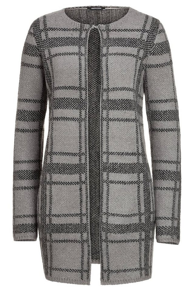 MORE&MORE Long-Cardigan, XL-Check in wie Farbmuster