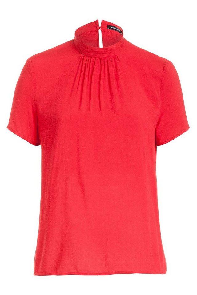 MORE&MORE Bluse, Viskose in rot