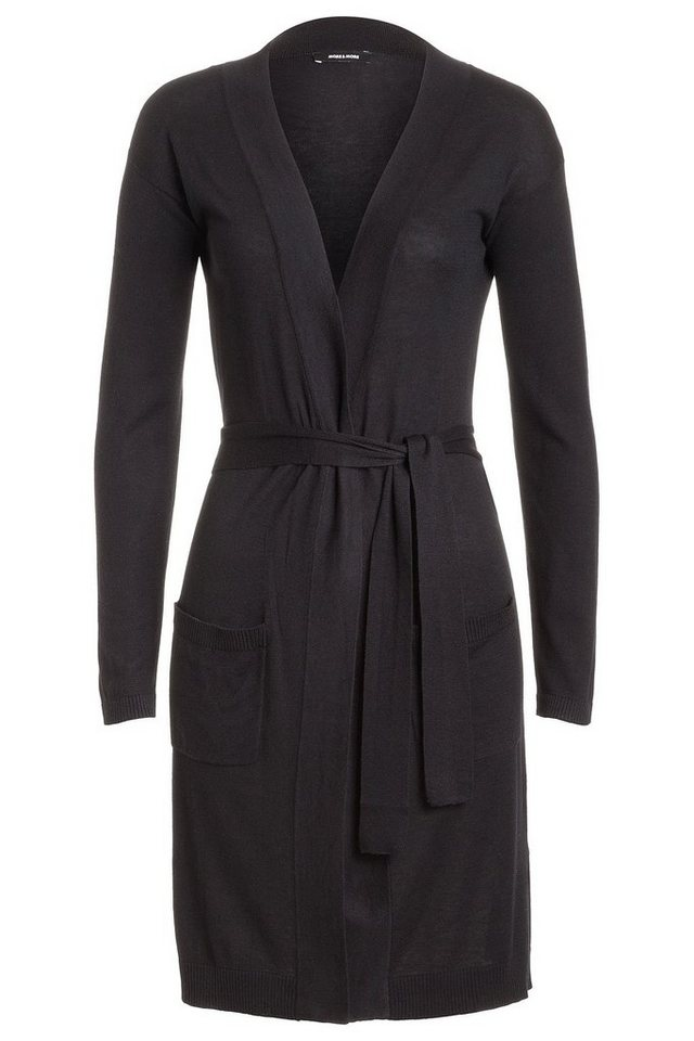 MORE&MORE Long-Cardigan, schwarz in schwarz