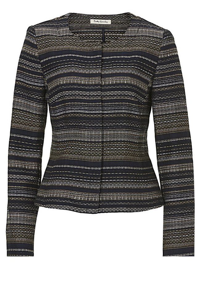 Betty Barclay Blazerjacke in Blau/Camel - Bunt
