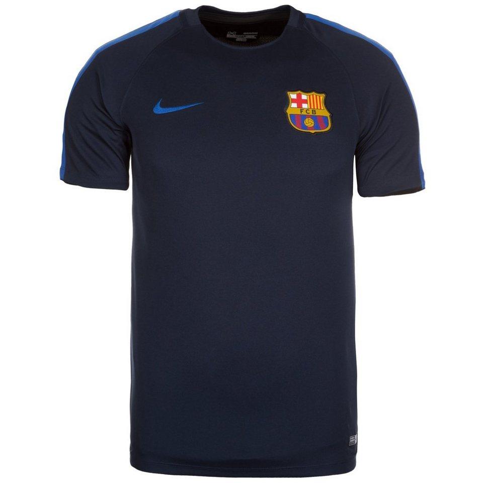 NIKE FC Barcelona Dry Squad Trainingsshirt Herren in dunkelblau / blau