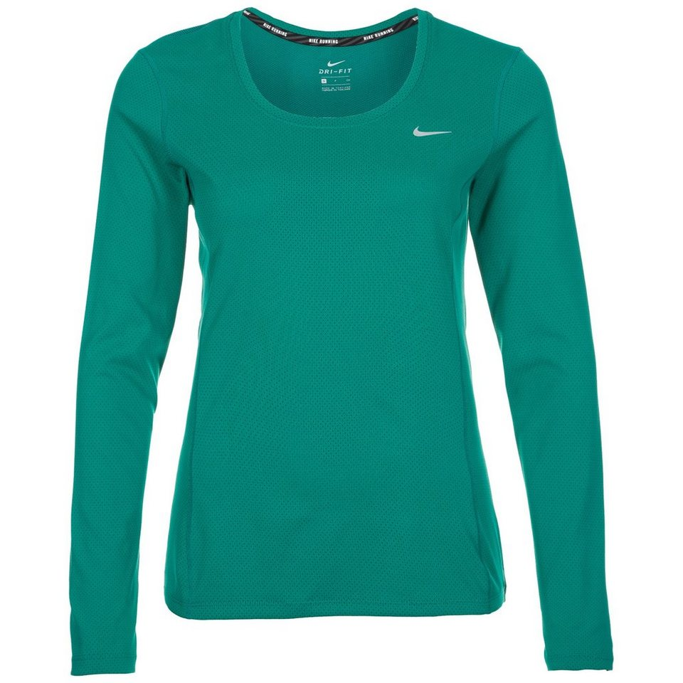 NIKE Contour Laufshirt Damen in grün