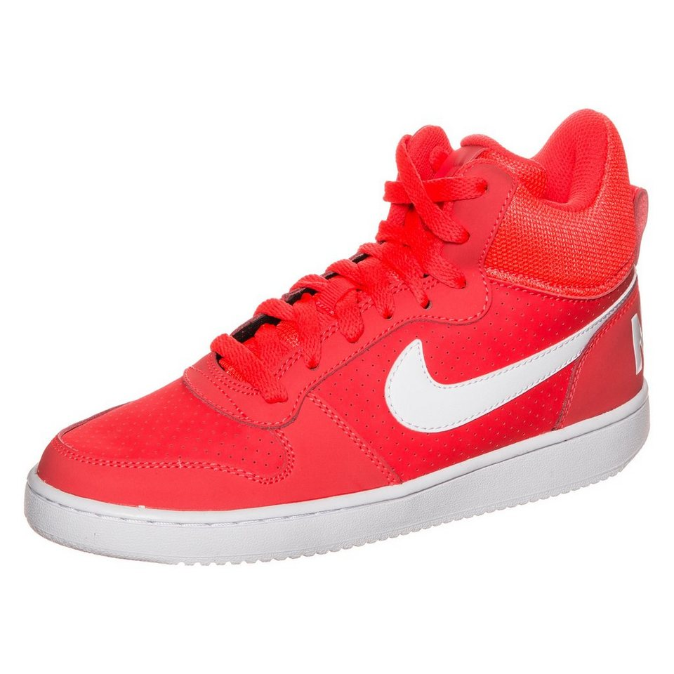 Nike Sportswear Court Borough Mid Sneaker Damen in neonrot