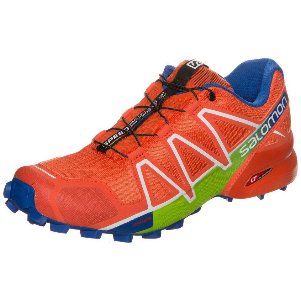 Salomon Speedcross 4 Trail Laufschuh Herren in orange / blau / grün