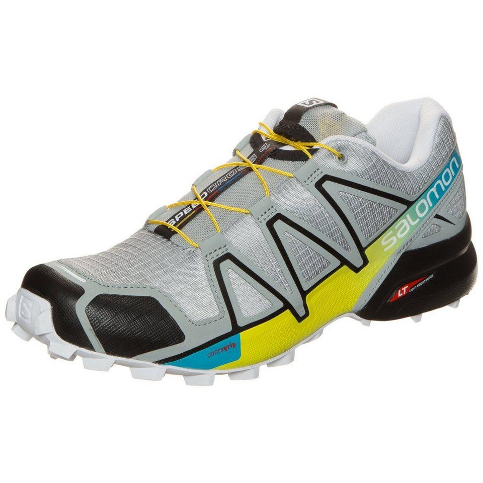 Salomon Speedcross 4 Trail Laufschuh Herren in grau / gelb / blau