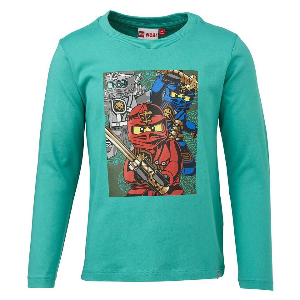 "LEGO Wear Ninjago Langarm-T-Shirt Tony ""Three Ninjas"" langarm Secret Shirt in grün"