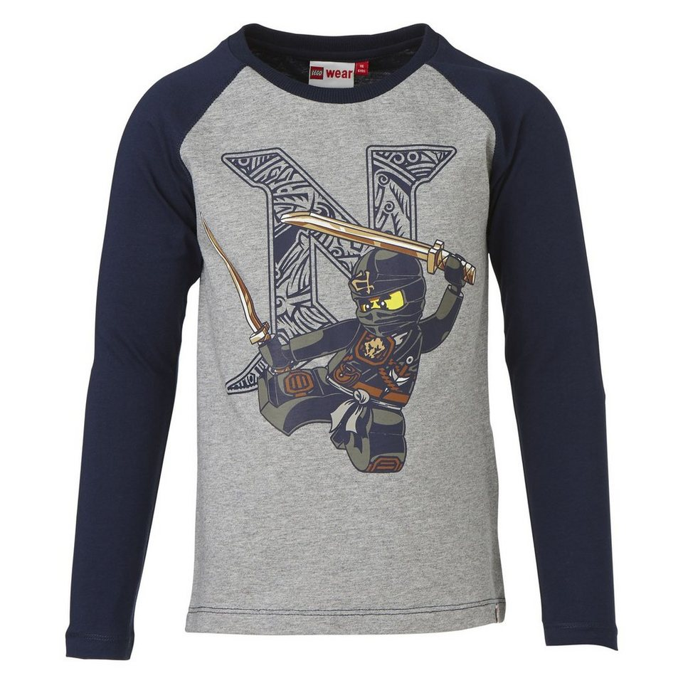 "LEGO Wear Ninjago Langarm-T-Shirt Tony ""N"" langarm Secret Shirts in blau"