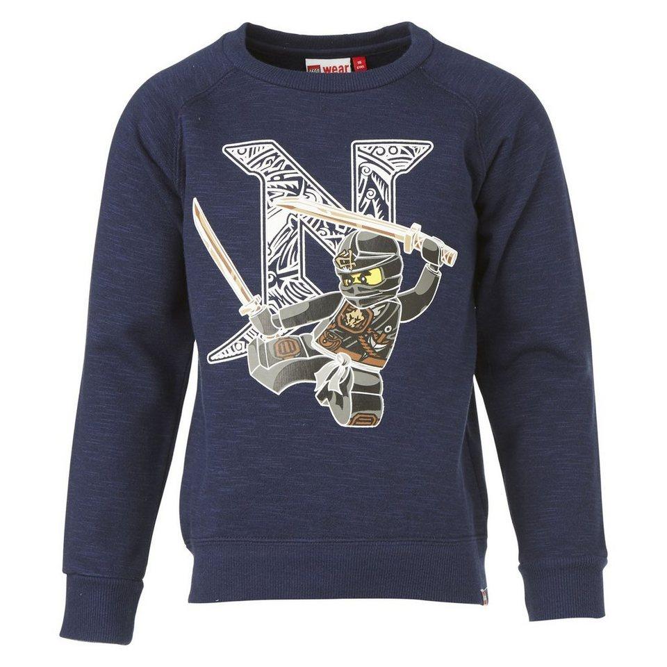 """LEGO Wear Ninjago Sweatshirt """"BIG N"""" Skeet langarm Secret Shirts in dunkelblau"""