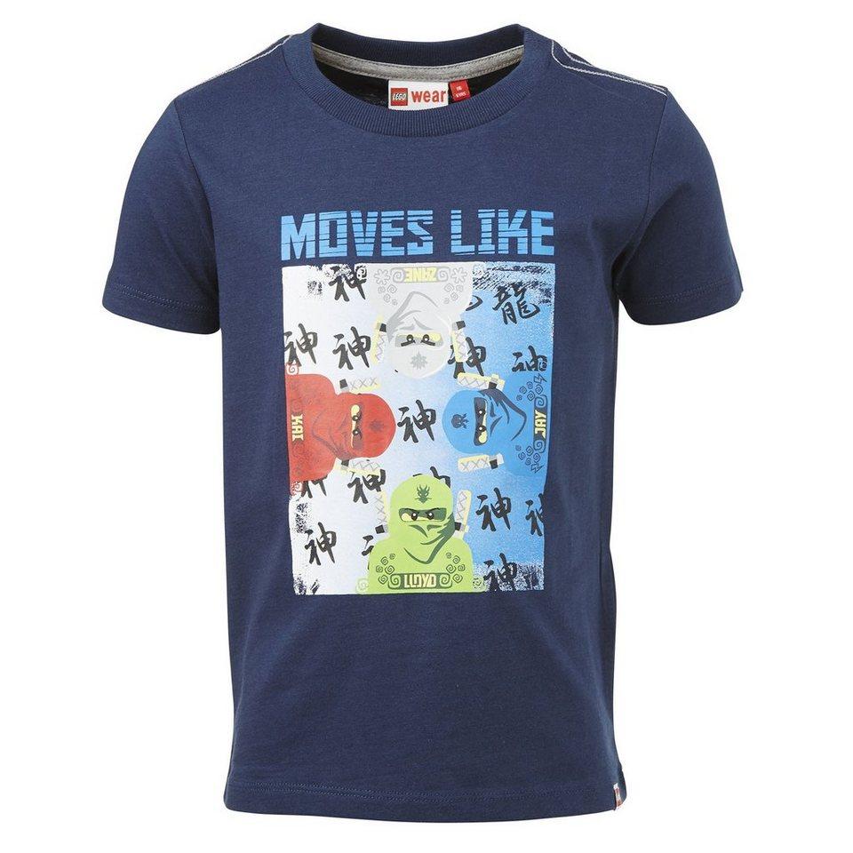"LEGO Wear Ninjago T-Shirt Tony ""Moves like"" kurzarm Secret Shirts in dunkelblau"