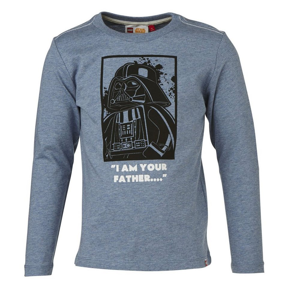 "LEGO Wear STAR WARS(TM) Langarm-T-Shirt Tony ""Darth Vader"" Secret Shirts in blau"