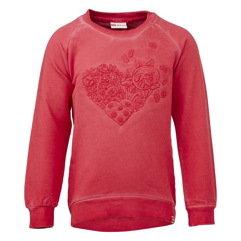 "LEGO Wear Friends Sweatshirt Tessa langarm ""Heart"" Shirt in rot"