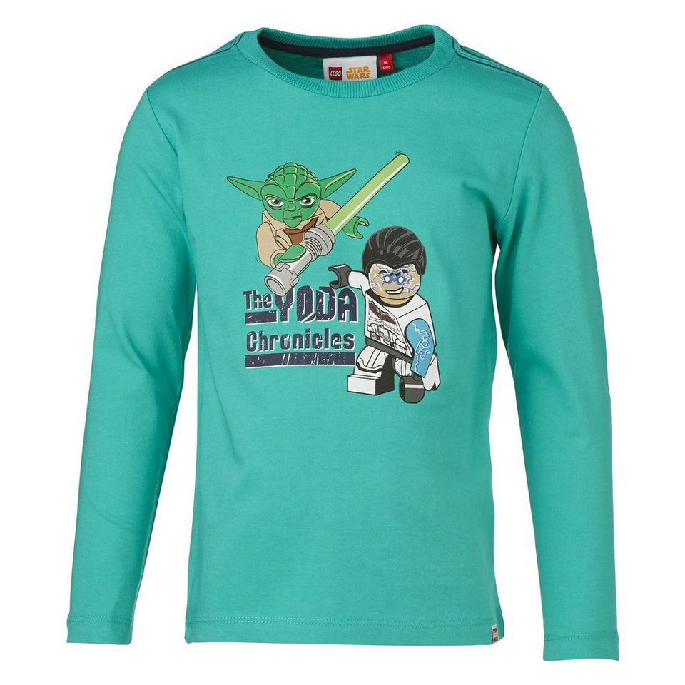 "LEGO Wear STAR WARS(TM) Langarm-T-Shirt Tony ""Yoda"" langarm Secret Shirts in grün"