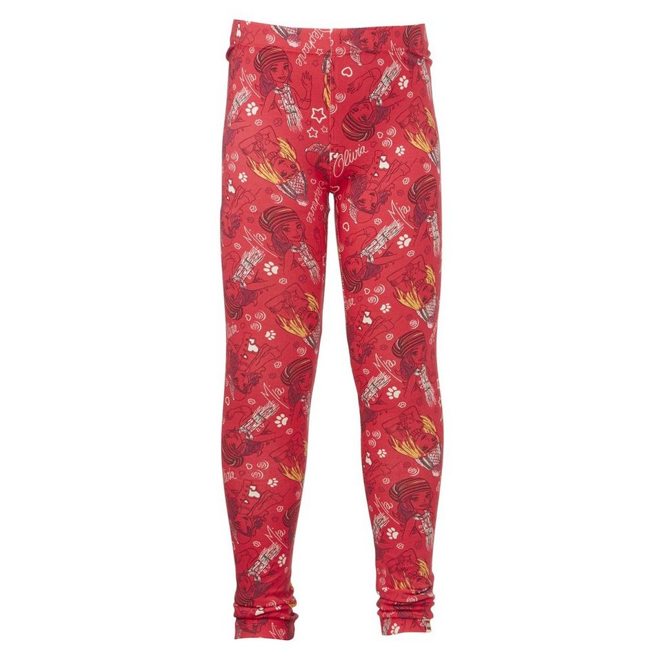 "LEGO Wear Friends Leggings ""AllOver"" Porta Secret Shirts in rot"