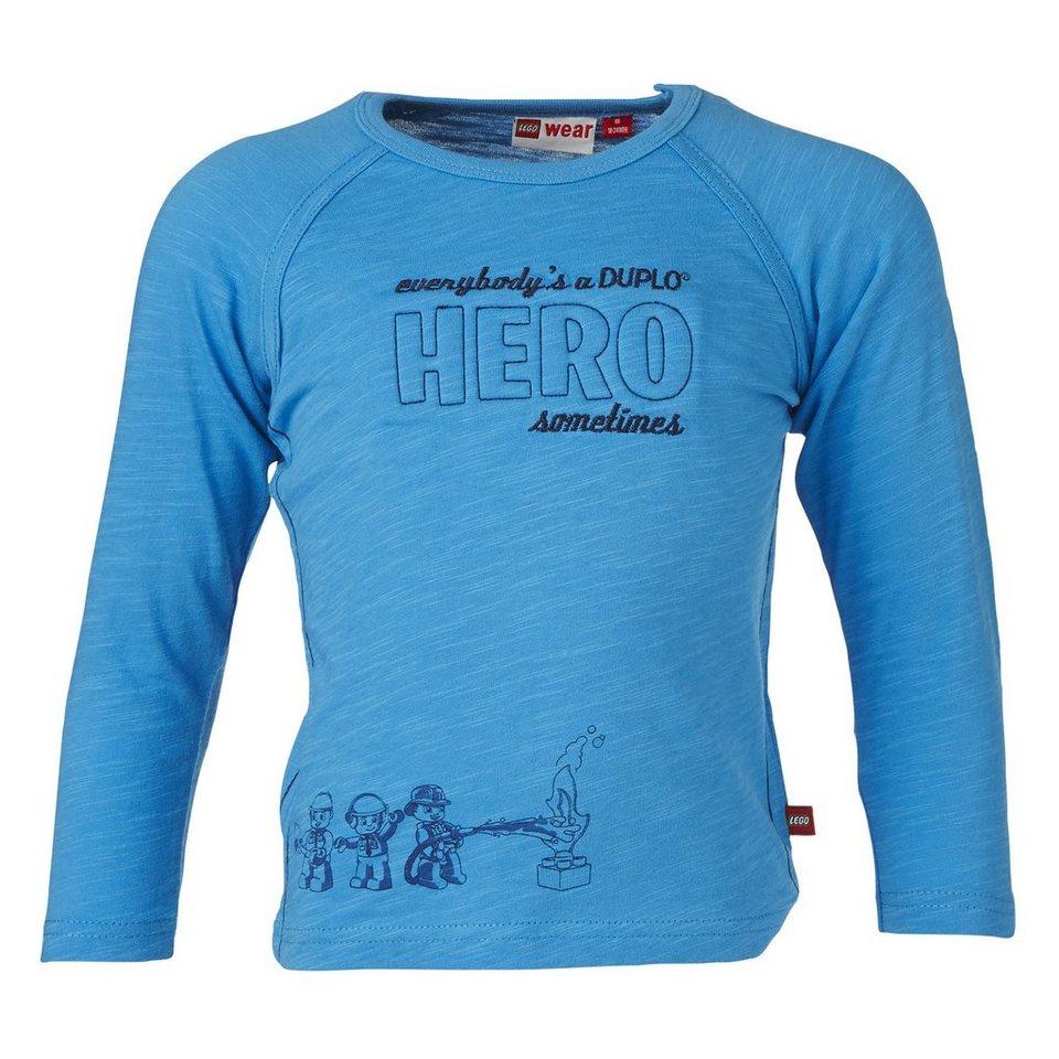 "LEGO Wear Duplo Langarm-T-Shirt ""Hero"" Shirt Trey langarm in blau"