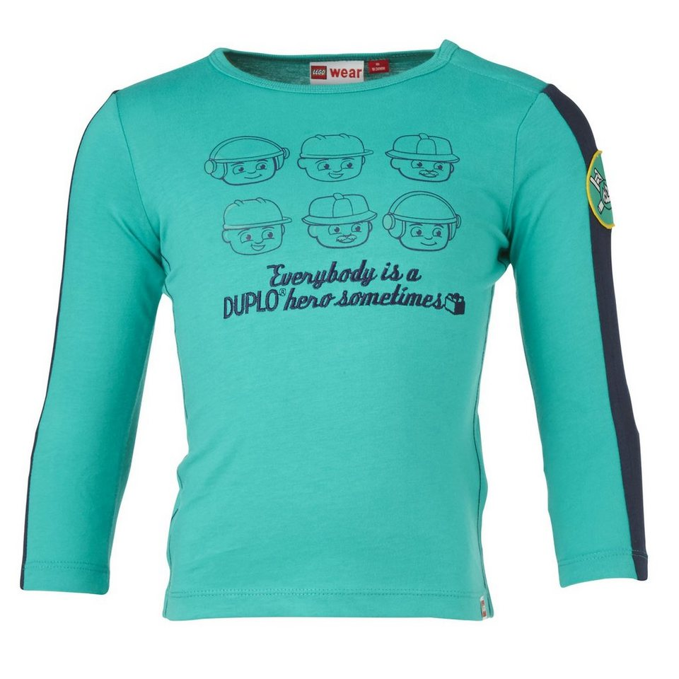 "LEGO Wear Duplo Langarm-T-Shirt ""Everybody"" Shirt Trey langarm in grün"