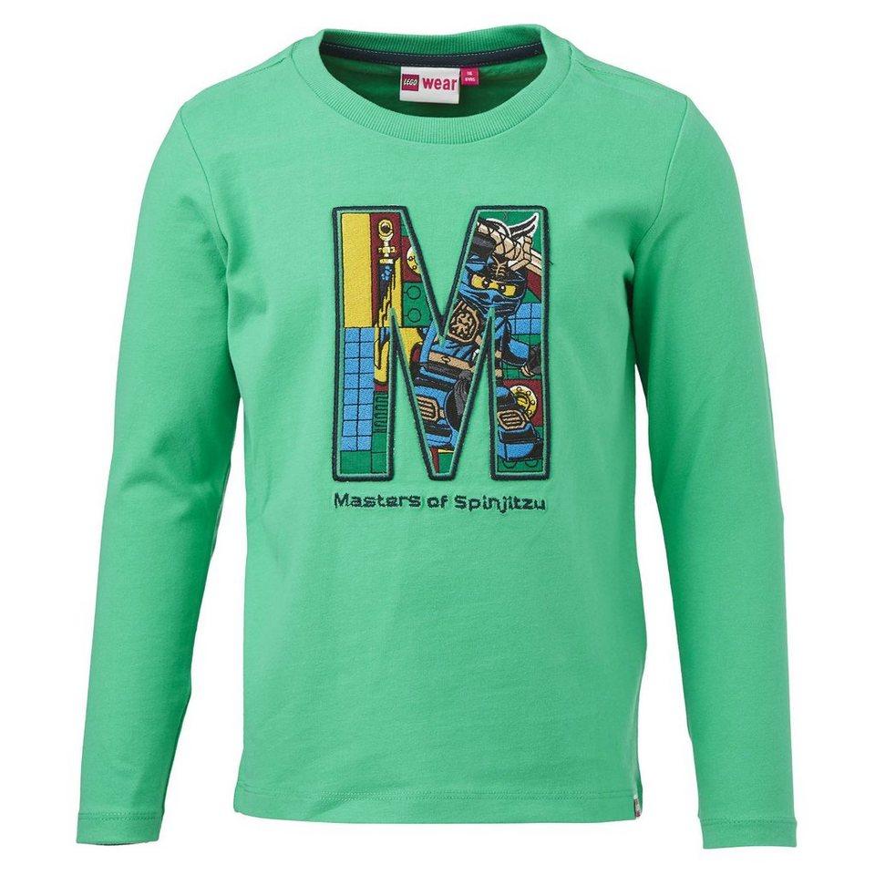 "LEGO Wear Ninjago Langarm-T-Shirt Tony ""Meant to Play"" langarm Shirt in grün"