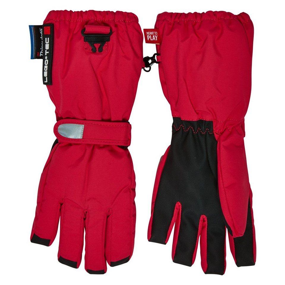 LEGO Wear Handschuhe Abriel Fan-Tex Membran LEGO® TEC 8.000 mm Wassersäule in rot