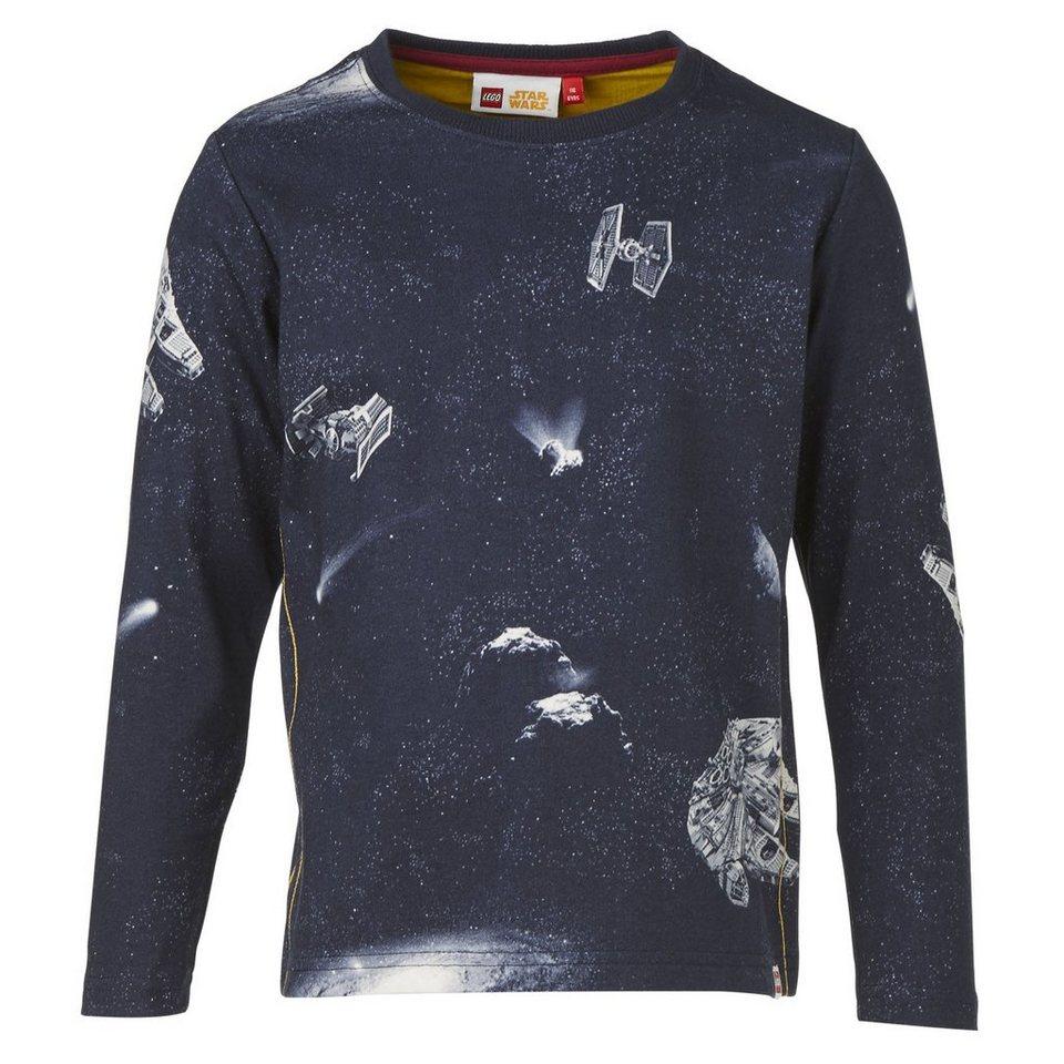 "LEGO Wear STAR WARS(TM) Langarm-T-Shirt Tony ""Galaxy"" langarm Shirt in dunkelblau"